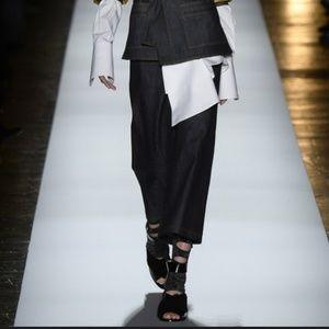 Bcbg Max Azria black runway faux fur heels size 9
